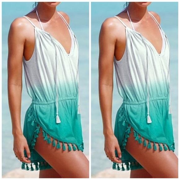 11f3fbe669e92 Victoria's Secret Dresses   Victorias Secret Ombr Fringe Romper ...